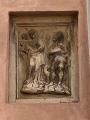 Immeuble dit Maison Castagnola - Français:   Bas-relief de la maison Castagnola à Bastia, représentant San Roccu