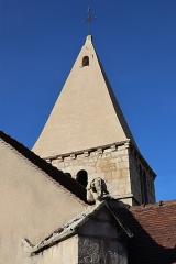 Eglise Saint-Léger - Français:   Église Saint-Léger de Thenissey (21). Clocher.
