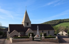 Eglise Saint-Léger - Français:   Église Saint-Léger de Thenissey (21). Flanc nord.
