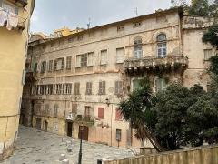 Maison de Caraffa ou ensemble immobilier dit maison de Caraffa - Corsu:   Facciata di u Palazzu Caraffa, in Bastia