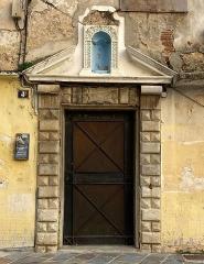 Maison de Caraffa ou ensemble immobilier dit maison de Caraffa - Français:   Portail du n°4 rue chanoine Letteron à Bastia, entrée du Palais Caraffa