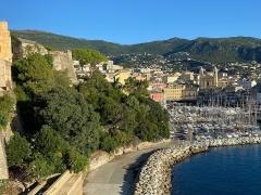Ensemble constitué de la rampe Saint-Charles, de l'escalier et du jardin Romieu - Corsu:   Giardinu Romieu è Vechju Portu di Bastia, in Corsica