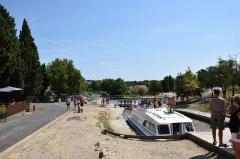 Canal du Midi : écluses de Fonsérannes - Français:   Écluses de Fonserannes