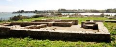 Villa gallo-romaine de Mané-Vechen - Français:   Plouhinec (Morbihan): le site archéologique de Mané-Vechen (rive droite de la Rivière d\'Étel).
