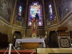 Eglise Saint-Jean-Bosco - Français:   Autel et choeur église Saint-Jean-Bosco 20eme arrondissement Paris