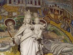 Eglise Saint-Jean-Bosco - Français:   Statue de la Vierge Marie église Saint-Jean-Bosco 20eme arrondissement Paris