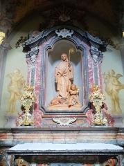 Ancienne abbaye de Clairvaux - Italiano:   Altare laterale dedicato a San Bernardo - santuario di B. V. Del Carmelo Montevecchia