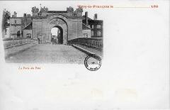 Porte du Pont - Français:   une vue de carte postale ancienne.