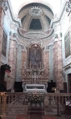 Eglise -  Alpes-Maritimes, La Turbie. L\'église St Michel-Archange. Orgue en partie droite du choeur.