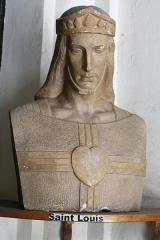 Eglise Saint-Louis - Français:   Buste de saint Louis dans l\'entrée de l\'église. Auteur inconnu.