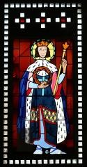 Eglise Saint-Louis - Français:   Vitrail représentant saint Louis placé dans le narthex de l\'église Saint-Louis de Marseille._