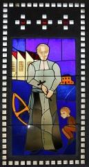 Eglise Saint-Louis - Français:   Vitrail représentant Antoine Chevrier placé dans le narthex de l\'église Saint-Louis de Marseille._