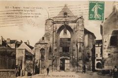 Eglise Saint-Furcy  : partie subsistante - Français:   Carte postale ancienne - Lagny-sur-Marne Collection privée M.G.