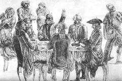 Café Le Procope - Genevan painter and naturalist