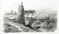 Stèle protohistorique christianisée - Français:   Menhir christianisé près de Trégunc (Voyages pittoresques et romantiques dans l\'ancienne France, par Charles Nodier, Justin Taylor et Alphonse de Cailleux, 1845-1846).