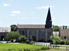 Eglise Saint-Priest - Français:   La façade nord de l\'église, Saint-Priest-la-Plaine, Creuse, France.