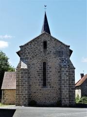 Eglise Saint-Priest - Français:   Le chevet de l\'église, Saint-Priest-la-Plaine, Creuse, France.