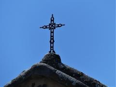 Eglise Saint-Priest - Français:   La croix au-dessus du chevet de l\'église, Saint-Priest-la-Plaine, Creuse, France.