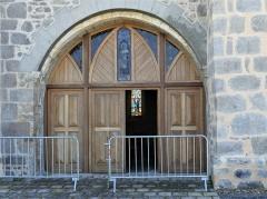 Eglise Saint-Priest - Français:   Le portail de l\'église, Saint-Priest-la-Plaine, Creuse, France.