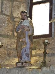 Eglise Saint-Priest - Français:   Statue représentant saint Joseph et l\'Enfant Jésus, église de Saint-Priest-la-Plaine, Creuse, France.
