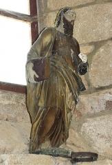 Eglise Saint-Priest - Français:   Statue dans l\'église de Saint-Priest-la-Plaine, Creuse, France.