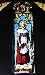Eglise Saint-Priest - Français:   Vitrail représentant sainte Germaine, église de Saint-Priest-la-Plaine, Creuse, France.