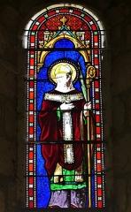 Eglise Saint-Priest - Français:   Vitrail dans l\'église de Saint-Priest-la-Plaine, Creuse, France.