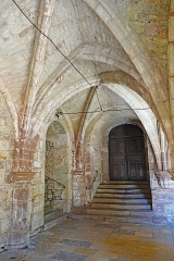 Ancienne abbaye Saint-Colomban - Français:   Le cloître du monastère de Luxeuil-les-Bains.