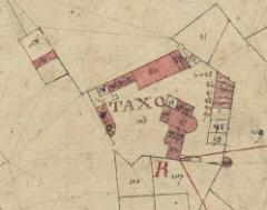 Hameau du Taxo d'Avall - Català:   Tatzó d\'Avall, d\'Argelers, en el Cadastre napoleònic del 1812 (Arxius Departamentals dels Pirineus Orientals)