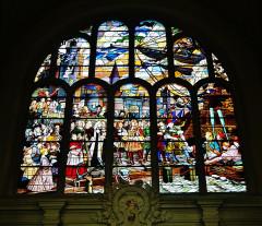 Eglise Saint-Christophe - Deutsch:   Buntglasfenster der Kirche St. Christophe, Tourcoing, Département Nord, Region Oberfrankreich (ehemals Nord-Pas-de-Calais), Frankreich