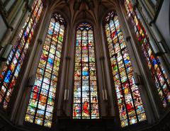 Eglise Saint-Christophe - Deutsch:   Chorfenster der Kirche St. Joseph, Roubaix, Département Nord, Region Oberfrankreich (ehemals Nord-Pas-de-Calais), Frankreich