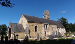 Eglise de Parfouru-l'Eclin - Français:   Livry (Normandie, France). L\'église Saint-Martin de Parfouru-l\'Éclin.