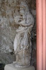 Eglise Saint-Valérien - Français:   Intérieur de l\'église Saint-Valérien à Chitry (89). Statue de la Vierge à l\'Enfant.