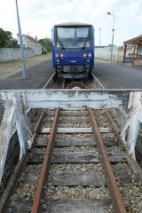 Ligne à voie ferrée métrique le Blanc-Argent (ou B.A.) sur le tronçon Luçay-le-Malé-Argy - Français:   Gare de Salbris (Loir-et-Cher, France): terminus de la ligne du Blanc-Argent