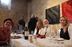 """Château de Plieux -  De gauche à droite: Anne Marie Waters, présidente de """"For Britain"""", Hughes Hourdin, Damien Rieu, Yohann Rimokh, le général Martinez, le général Piquemal, Marco Santi, Mme Szalai"""