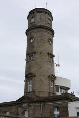 Phare de Gatteville et ancien phare, sémaphore de Barfleur - Français:   Phare de Gatteville construit en 1775 (Inscrit MH).