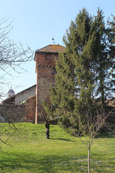Photo du Monument Historique Enceinte situé à Bâgé-le-Châtel