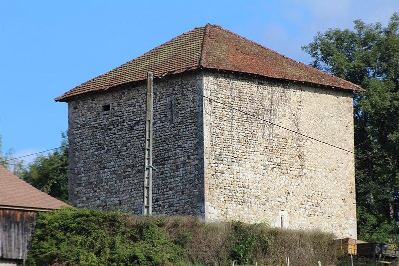 Photo du Monument Historique Donjon du Temple (vestiges) situé à Chazey-Bons