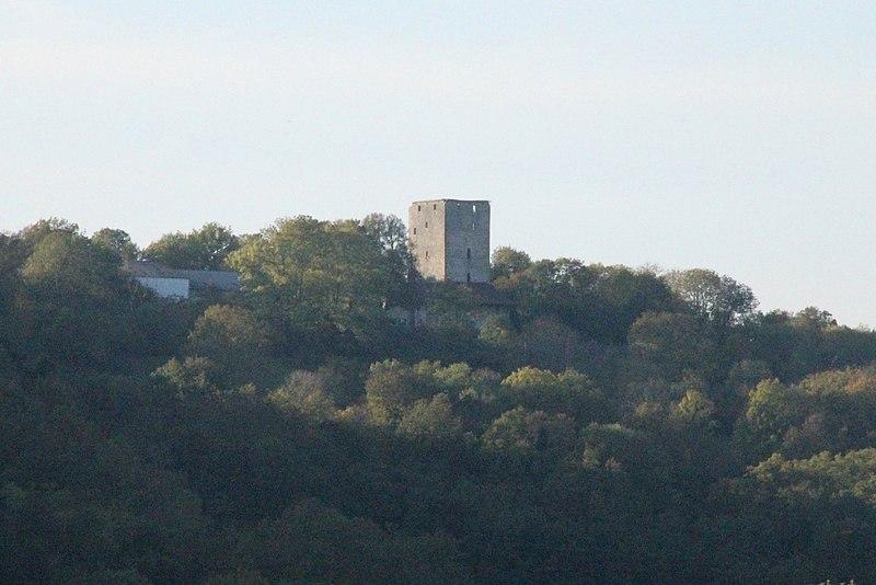 Photo du Monument Historique Donjon de Buenc (ruines) situé à Hautecourt-Romanèche