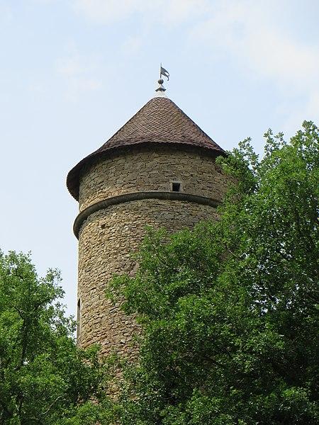 Photo du Monument Historique Pigeonnier  dit Tour de Cossieux situé à Jujurieux