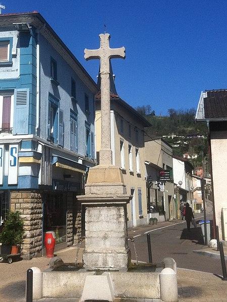 Photo du Monument Historique Calvaire-fontaine situé à Miribel