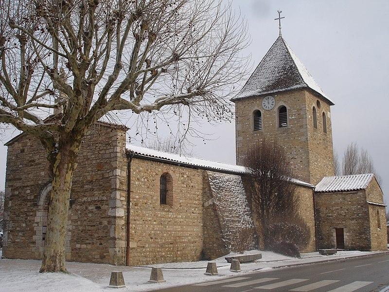 Photo du Monument Historique Eglise Saint-Maurice situé à Saint-Maurice-de-Gourdans