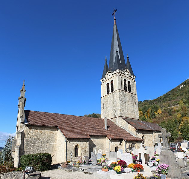 Photo du Monument Historique Eglise situé à Saint-Sorlin-en-Bugey
