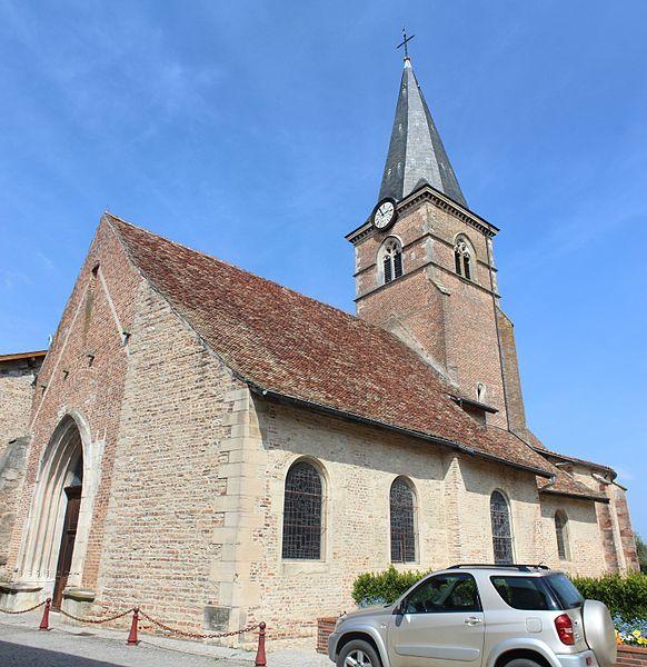 Photo du Monument Historique Eglise situé à Saint-Trivier-de-Courtes