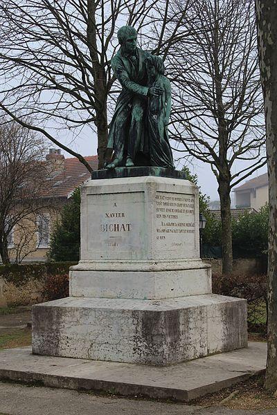 Photo du Monument Historique Statue de Bichat situé à Bourg-en-Bresse