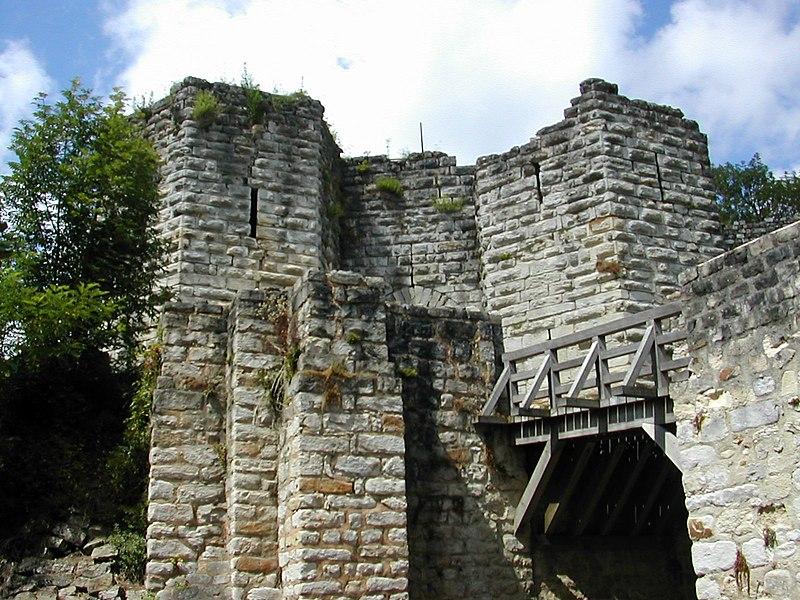 Photo du Monument Historique Ruines de l'ancien château et la butte sur laquelle elles sont situées situé à Château-Thierry