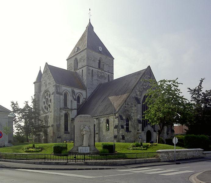 Photo du Monument Historique Eglise situé à Guignicourt