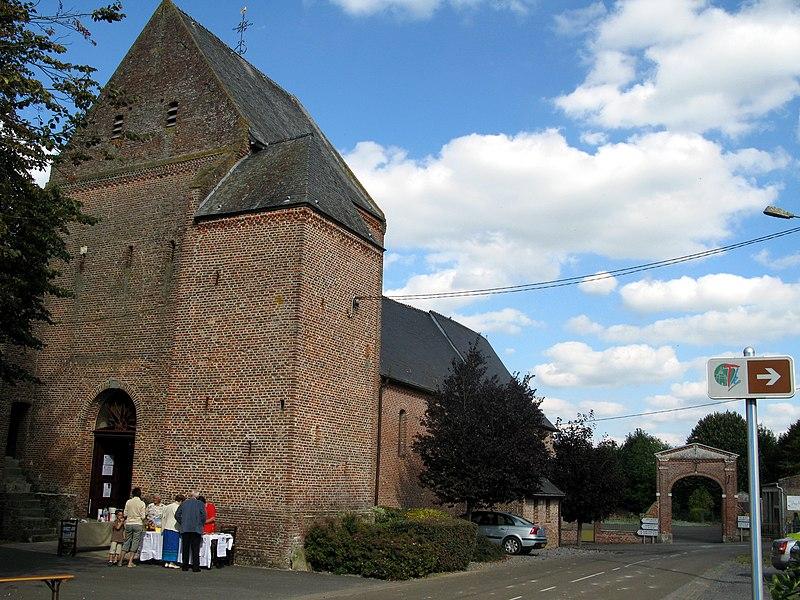 Photo du Monument Historique Eglise Saint-Martin situé à Jeantes