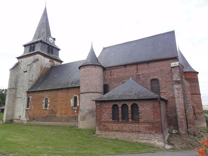Photo du Monument Historique Eglise situé à Nampcelles-la-Cour