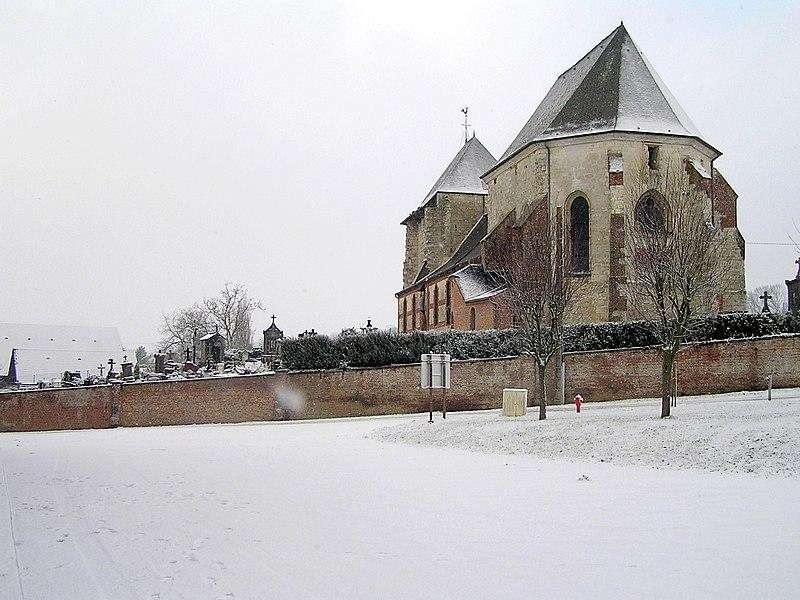 Photo du Monument Historique Eglise Saint-Martin situé à Vigneux-Hocquet